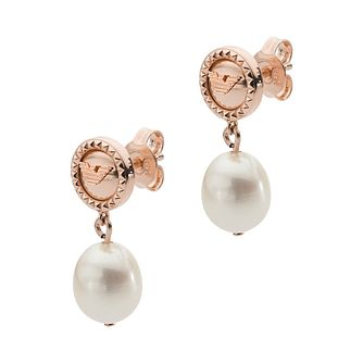 Emporio Armani Rose Gold Tone Freshwater Pearl Earrings - Product number 4940679