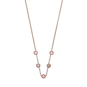 Emporio Armani Rose Gold Tone Rose Quartz Necklace - Product number 4940849