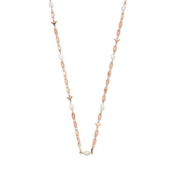 Emporio Armani Rose Gold Tone Freshwater Pearl Necklace - Product number 4940857