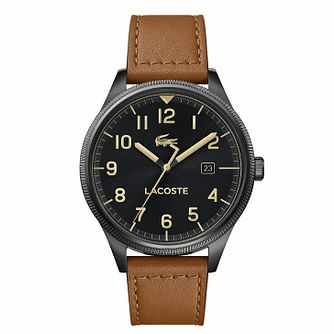 Lacoste Continental Men's Tan Leather Strap Watch - Product number 4941888