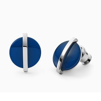 Skagen Ladies' Stainless Steel Sea Glass Stud Earrings - Product number 4942175