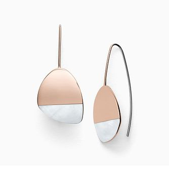 Skagen Agnethe Rose Gold Tone Mother of Pearl Earrings - Product number 4942213