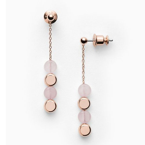 Skagen Ellen Ladies' Rose Gold Tone Quartz Drop Earrings - Product number 4942647
