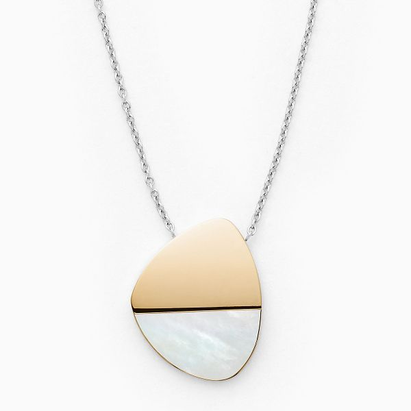 Skagen Agnethe Two Tone Mother of Pearl Necklace - Product number 4942922