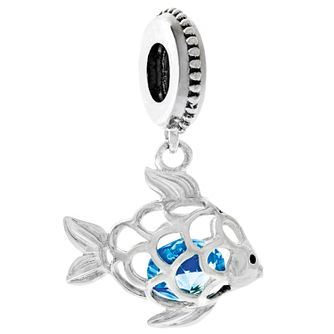 Chamilia Fresh Catch Charm with Capri Blue Swarovski Crystal - Product number 4943457