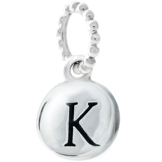 Chamilia Sterling Silver K Alphabet Disc Charm - Product number 4944070