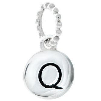 Chamilia Sterling Silver Q Alphabet Disc Charm Bead - Product number 4944135