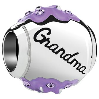 Chamilia Radiant Blooms Silver & Enamel Grandma Charm - Product number 4944607