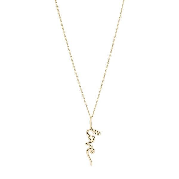 Fossil Fashion Love Collection Yellow Gold Tone Necklace - Product number 4944798