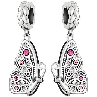 Chamilia Mother Daughter Butterfly Swarovski Crystal Charm - Product number 4944860