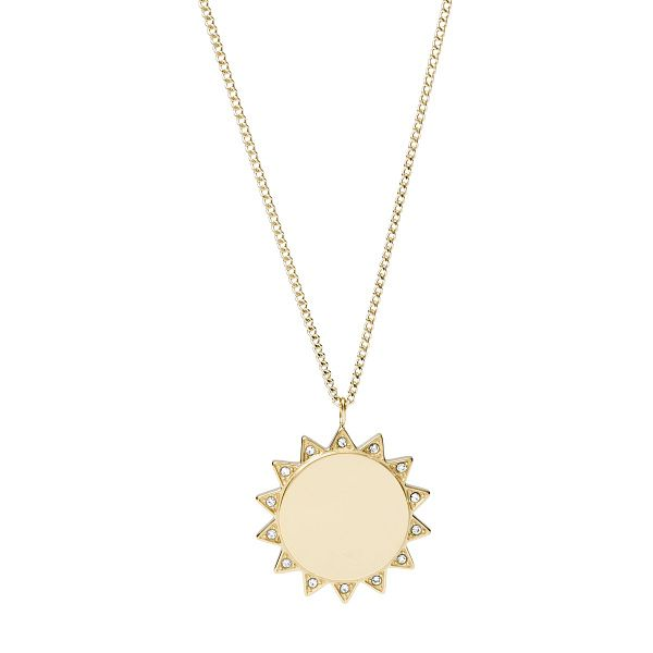 Fossil Vintage Motifs Yellow Gold Tone Sun Necklace - Product number 4944933