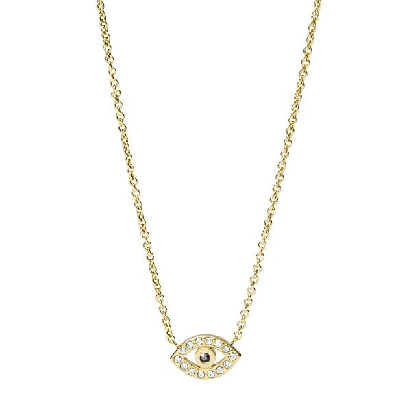 Fossil Vintage Motifs Yellow Gold Tone Eye Necklace - Product number 4944984
