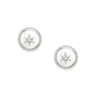 Fossil Vintage Star Silver Mother Of Pearl Stud Earrings - Product number 4945565