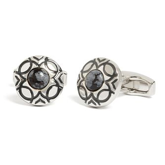 Simon Carter Men's Stainless Steel Marrakech Cufflinks - Product number 4945859