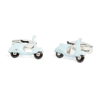 Simon Carter Men's Stainless Steel Scooter Enamel Cufflinks - Product number 4946162