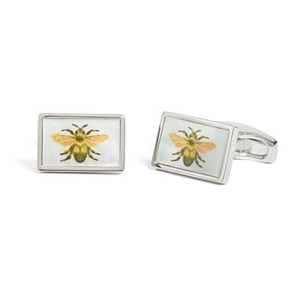 Simon Carter Men's Mother of Pearl Bee Cufflinks - Product number 4946200