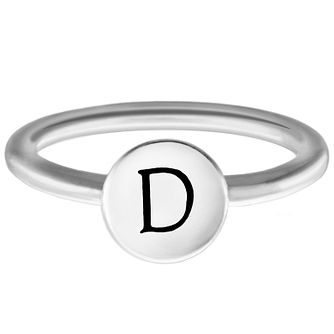 Chamilia Sterling Silver D Alphabet Disc Ring Extra Small - Product number 4947029