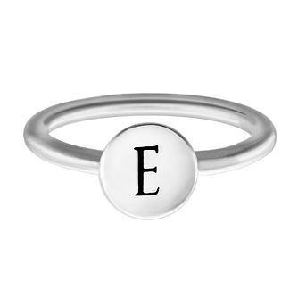 Chamilia Sterling Silver E Alphabet Disc Ring Extra Small - Product number 4947088