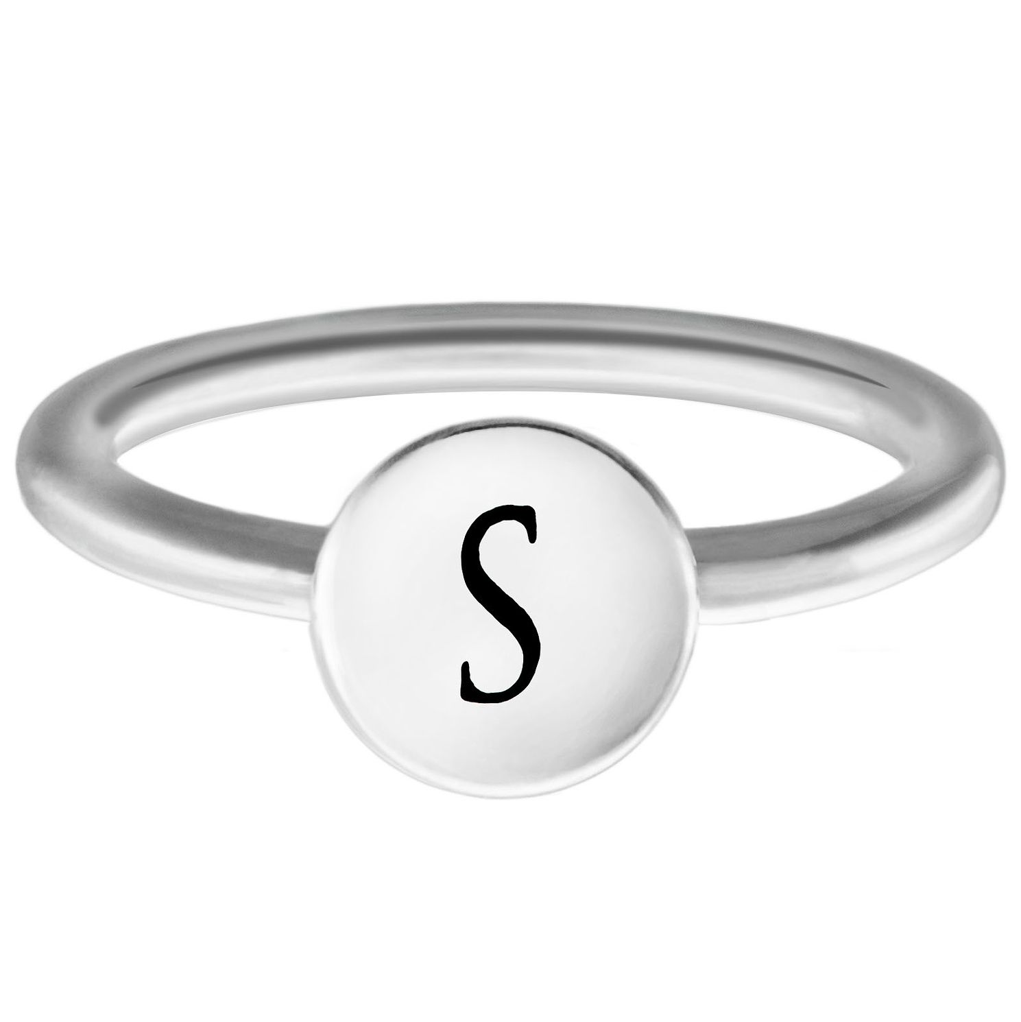 Chamilia Sterling Silver S Alphabet Disc Ring Extra Small - Product number 4949153