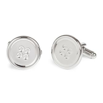 Simon Carter Men's Stainless Steel West End Button Cufflinks - Product number 4952464