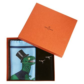 Simon Carter Men's T Rex Cufflink & Pocket Square Gift Set - Product number 4952472