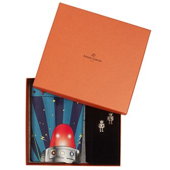 Simon Carter Men's Robot Cufflink & Pocket Square Gift Set - Product number 4952480