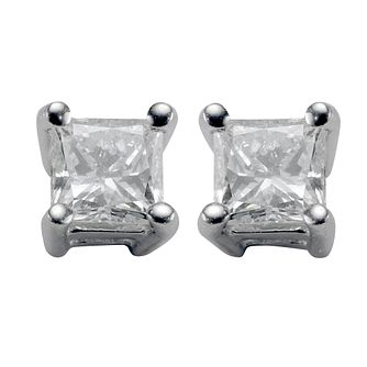 18ct white gold third carat diamond stud earrings - Product number 4953355