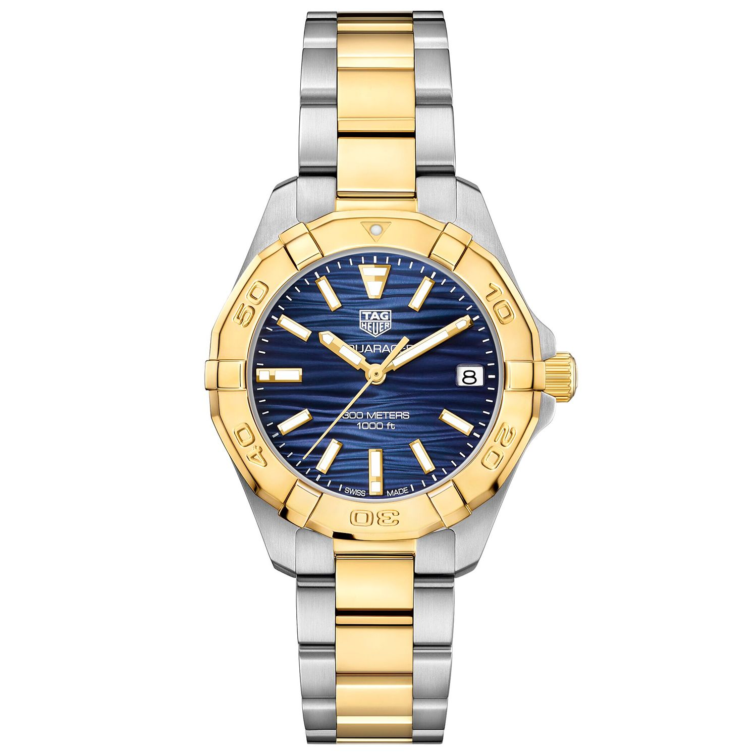 TAG Heuer Aquaracer Ladies' Two Tone Bracelet Watch - Product number 4953479