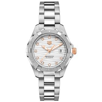 TAG Heuer Aquaracer Ladies' Stainless Steel Bracelet Watch - Product number 4953487