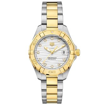 TAG Heuer Aquaracer Ladies' Two Tone Bracelet Watch - Product number 4953495
