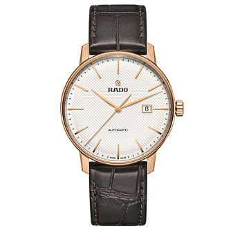 Rado Men's Brown Leather Strap Watch - Product number 4953533