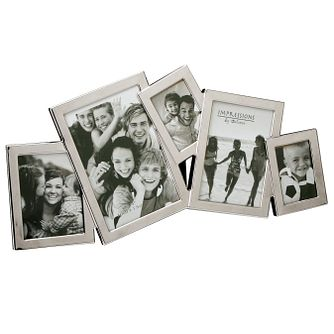 Nickel Plated 5 Aperture Collage Photo Frame - Product number 4955609