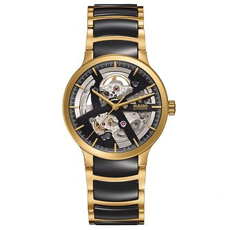 Rado Men's Gold Toned Skeleton Bracelet Watch - Product number 4957113
