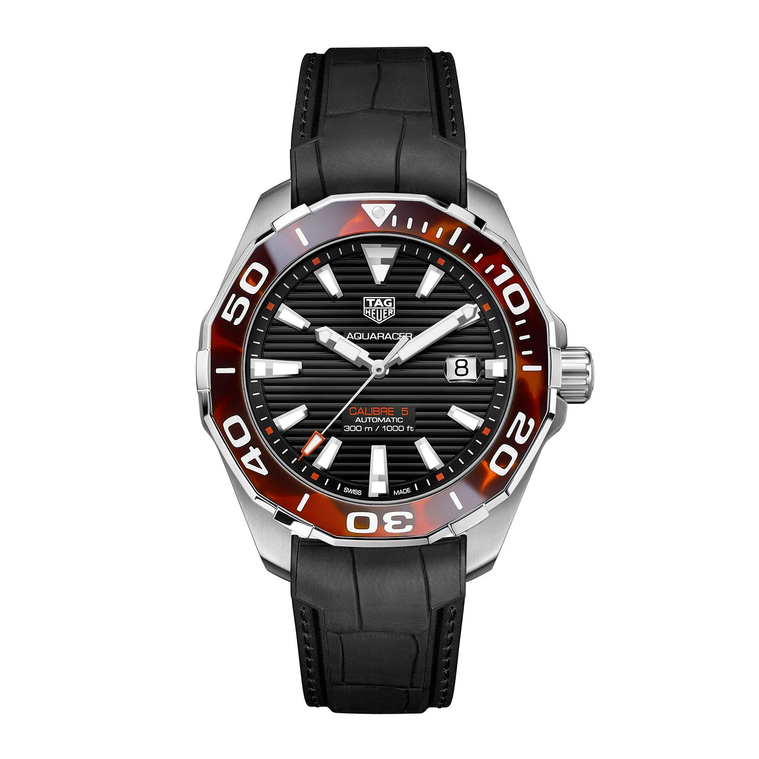 TAG Heuer Aquaracer Men's Black Rubber Strap Watch - Product number 4958489