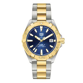 TAG Heuer Aquaracer Men's Two Tone Bracelet Watch - Product number 4958632