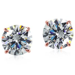 CARAT* LONDON 9ct Rose Gold Stone Set Studs - Product number 4958896