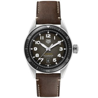 TAG Heuer Autavia Men's Brown Leather Strap Watch - Product number 4959094