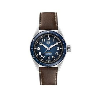 TAG Heuer Autavia Men's Brown Leather Strap Watch - Product number 4959434