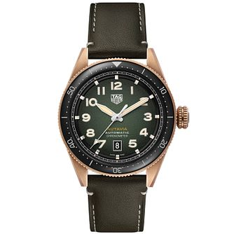 TAG Heuer Autavia Men's Khaki Leather Strap Watch - Product number 4959469