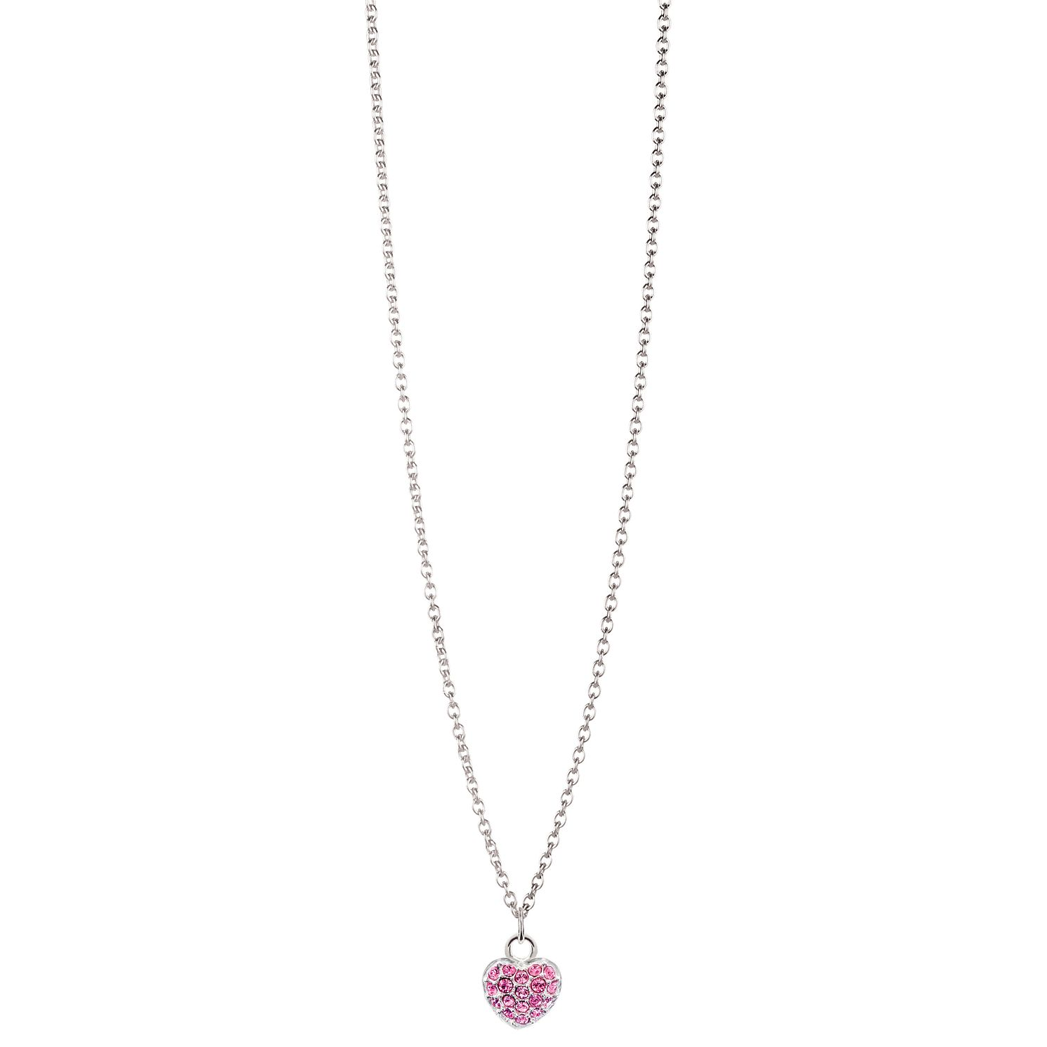 Chamilia Sterling Silver Petite Pave October Heart Necklace - Product number 4960548