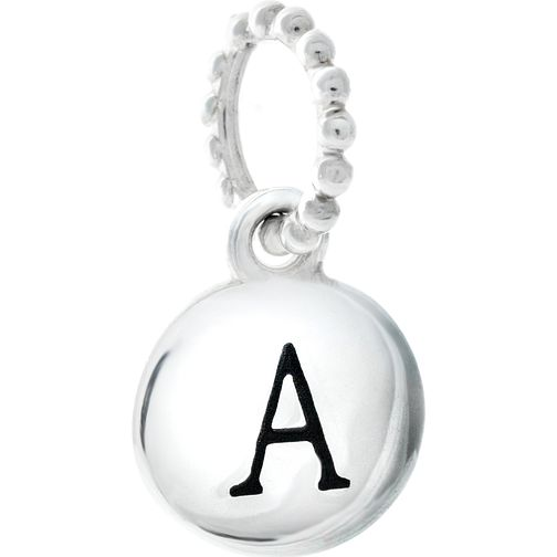 Chamilia Sterling Silver Alphabet Disc Charm A - Product number 4960572