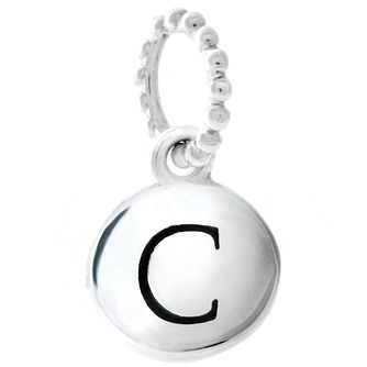 Chamilia Sterling Silver Alphabet Disc Charm C - Product number 4960599