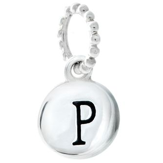 Chamilia Sterling Silver Alphabet Disc Charm P - Product number 4960742