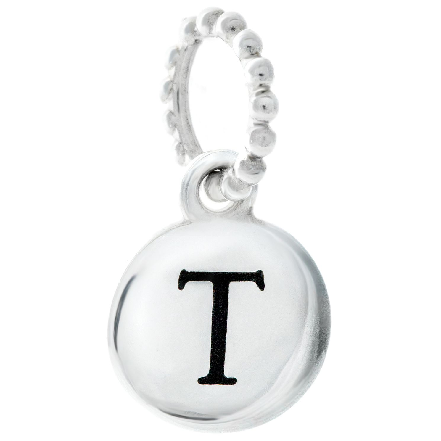 Chamilia Sterling Silver Alphabet Disc Charm T - Product number 4960785
