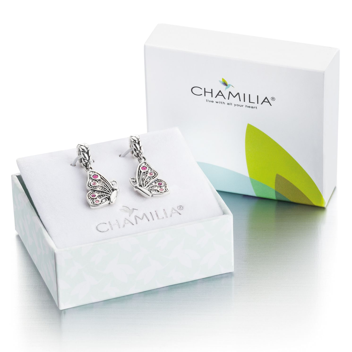 Chamilia Sterling Silver Mother Daughter Butterfly Charm Set - Product number 4961188