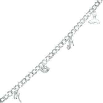 Marilyn Monroe Collection Silver 1/4ct Diamond Bracelet - Product number 4963601
