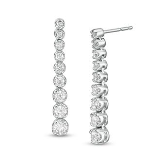 Marilyn Monroe Collection White Gold 0.70ct Diamond Earrings - Product number 4963679
