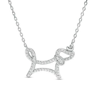 Marilyn Monroe Collection Silver 0.14ct Diamond Dog Pendant - Product number 4963709