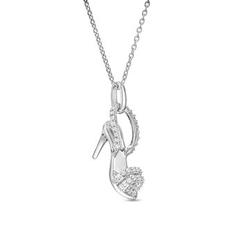 Marilyn Monroe Collection Silver Diamond Stiletto Pendant - Product number 4963725