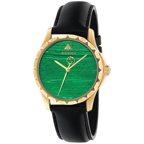 Gucci Ladies' Black Leather Strap Watch - Product number 4963989